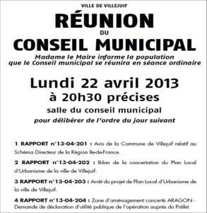 Conseil Municipal PLU 22Avril2013