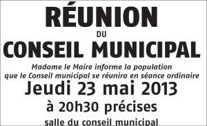 Conseil Municipal Mai 2013