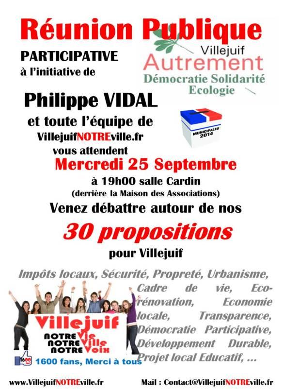 Réunion Publique 25/09/13