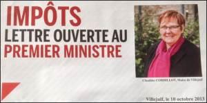 Lettre Ouverte 1er Ministre