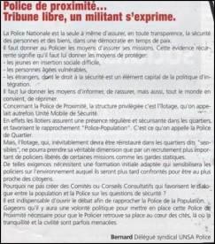 Bernard Ghisleni Article Police de Proximité