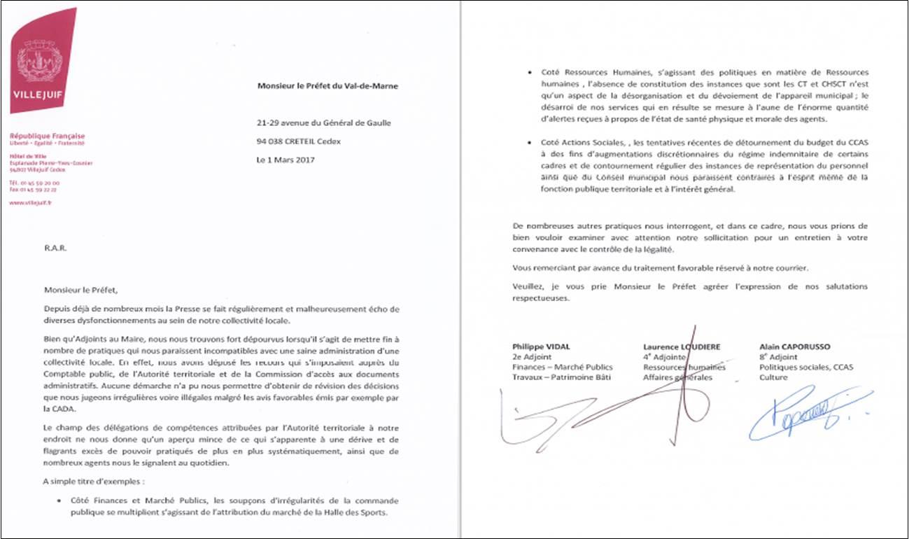 modele lettre demission adjoint Lettre de démission d'Adjoint de Philippe VIDAL au Préfet  modele lettre demission adjoint